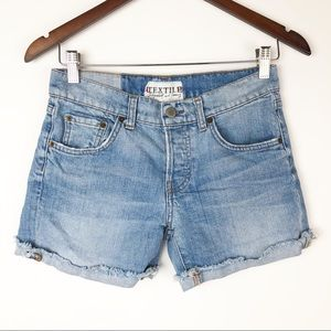 Elizabeth and James textile jean shorts